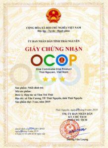 Chứng nhận OCOP Nhất Đinh Trà
